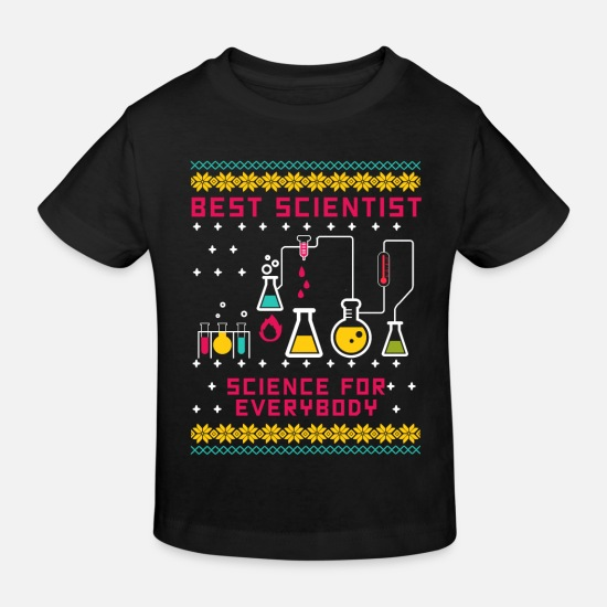 Science Babytøj - Scientist Science For Everybody Ugly Christmas - Økologisk T-shirt til børn sort
