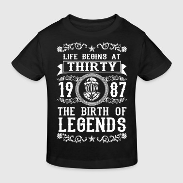 1987 - 30 years - Legends - 2017 - Ekologisk T-shirt barn