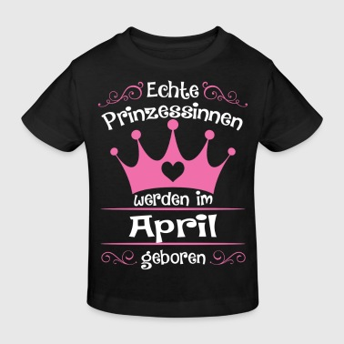 Prinzessinnen April - Prinzessin - Geburtstag 2 - Kinder Bio-T-Shirt