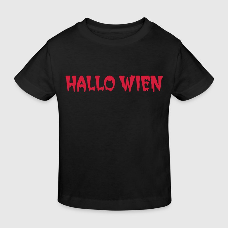 Halloween - Hallo Wien - Kinder Bio-T-Shirt