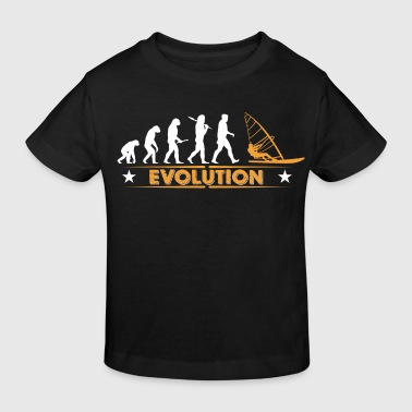 Windsurfen Evolution - orange/weiss - Kinder Bio-T-Shirt