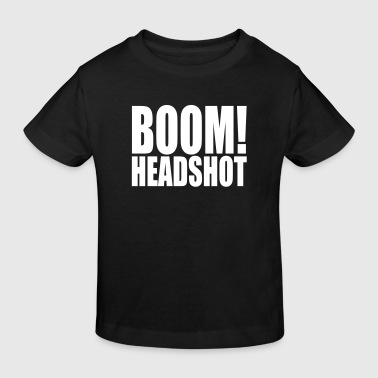 BOOM headshot - Kids' Organic T-shirt