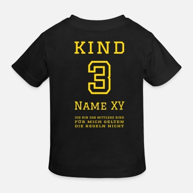 3 Kinder Kind 3 (personalisierbar) - Kinder Bio T-Shirt