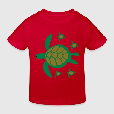 Sea Turtle with Babies - Kids' Organic T-shirt