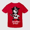 vl086d_piratenbraut_2c_schrift - Kinder Bio-T-Shirt