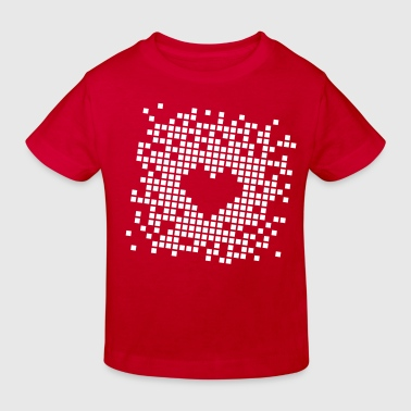Pixel Heart - Kids' Organic T-shirt