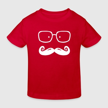 glasses and moustache - Kinderen Bio-T-shirt