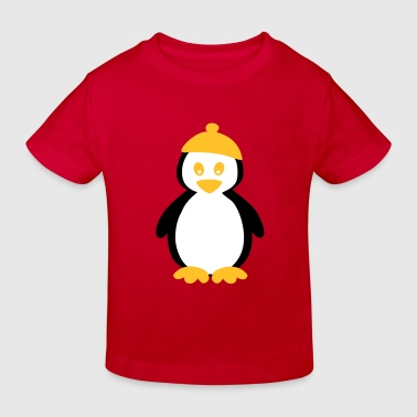 Penguin with Beanie - Kinderen Bio-T-shirt