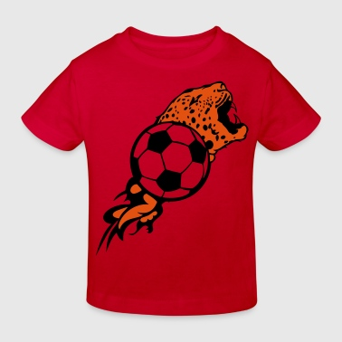 ballon football tigre flamme1 - T-shirt bio Enfant
