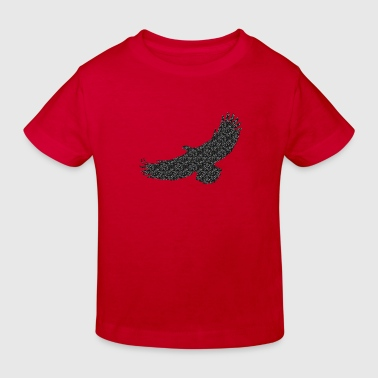 1 Color Adler Eagle Greifvogel Raptor Vogel Bird Flying Fliegender - Kinder Bio-T-Shirt