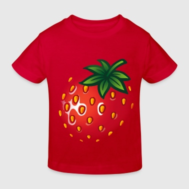 erdbeere_gross - strawberry big frucht schwanger - Kinder Bio-T-Shirt