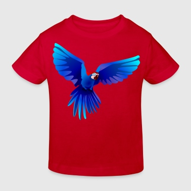 Ara fliegt blau - flying blue Ara - Kinder Bio-T-Shirt