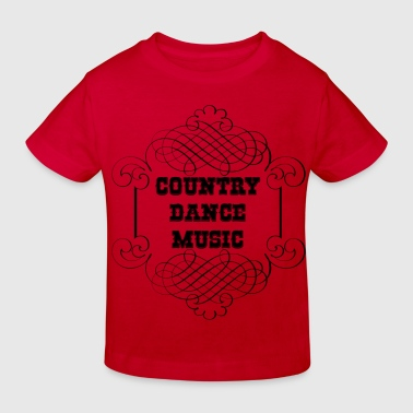 country dance music - Kids' Organic T-shirt