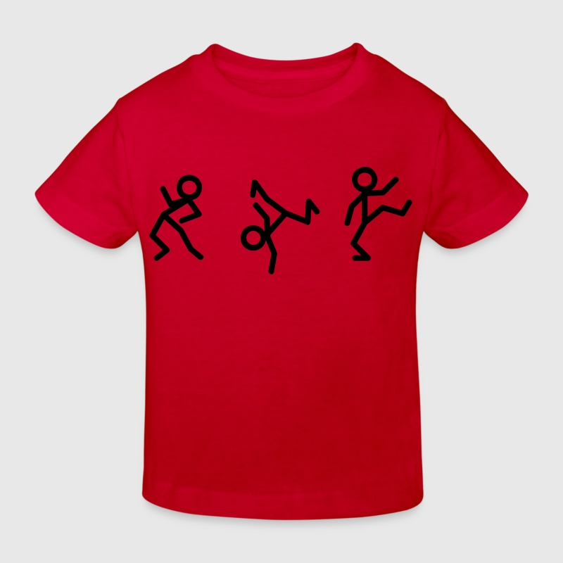 Dancing stick figure Baby Shirts  - Kids' Organic T-shirt