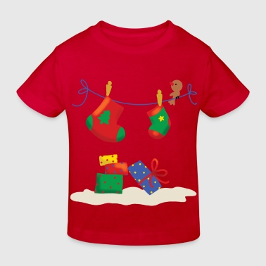 Christmas Stockings and Gifts. - Kinderen Bio-T-shirt