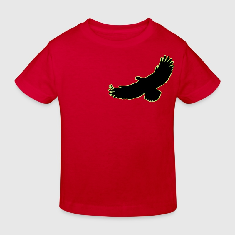 2 Color Adler Eagle Greifvogel Raptor Vogel Bird Flying Fliegender - Kids' Organic T-shirt