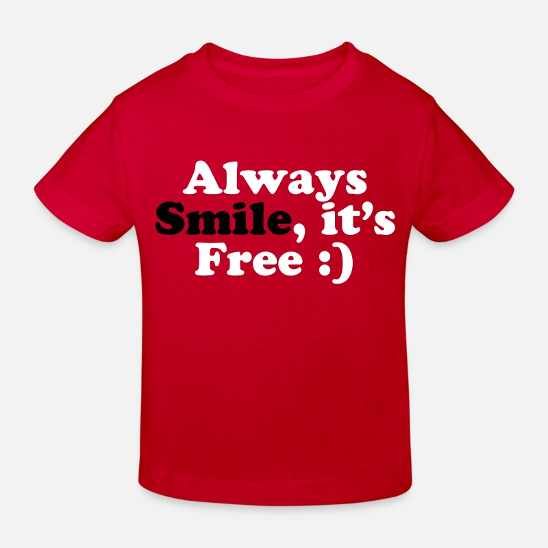 Cool T-shirts - Always Smile - T-shirt bio Enfant rouge
