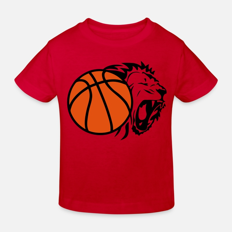 Ballon T-shirts - ballon basketball lion - T-shirt bio Enfant rouge