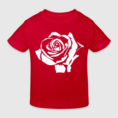 Rote Rosen rose - Kinder Bio-T-Shirt