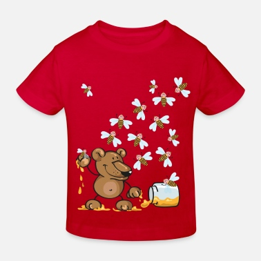 Stolen Goods The bear, the honey and the bees - Kids' Organic T-Shirt