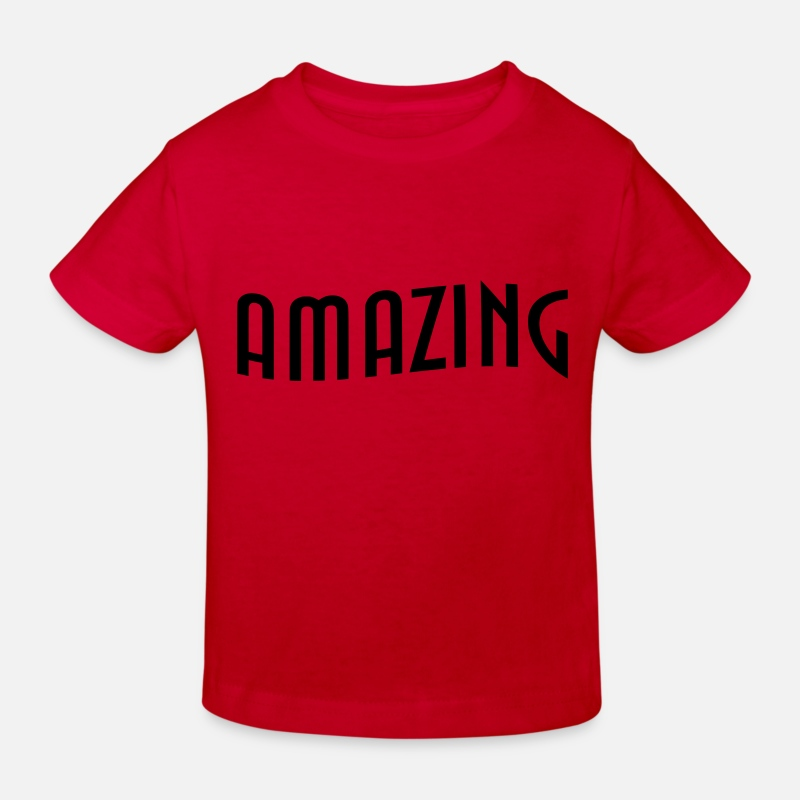 Statement Baby Clothes - Amazing - Kids' Organic T-Shirt red