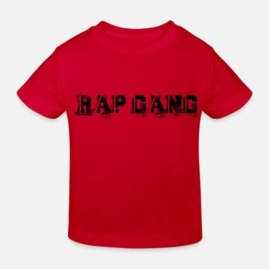 Rap Baby Clothes - rap gang - Kids' Organic T-Shirt red