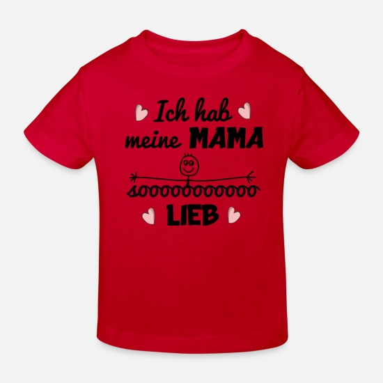 Birthday Baby Clothes - I love my mom gift idea Mother's Day - Kids' Organic T-Shirt red