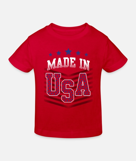 Usa Baby Clothes - MADE IN USA - Kids' Organic T-Shirt red