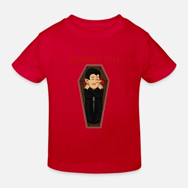 Grumpy In The Morning Vampire morning grumpy grumpy tired monday gift - Kids' Organic T-Shirt