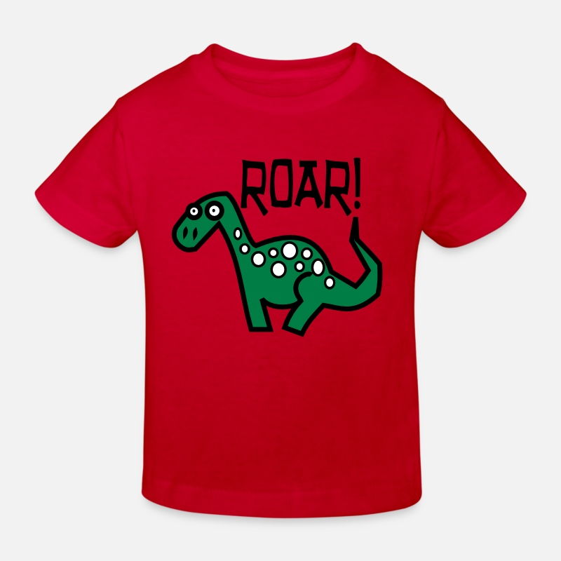 Dinosaur T-Shirts - Dinosaur Roar - Kids' Organic T-Shirt red