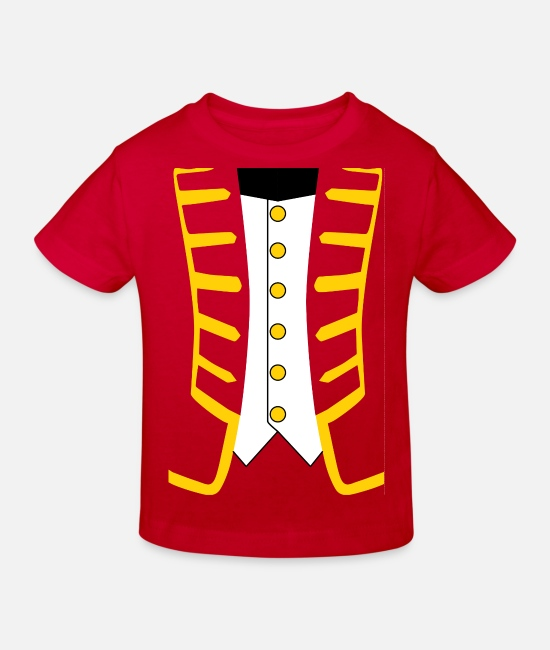 Uniform Baby Clothes - admiral (version 2) Admiral's uniform. - Kids' Organic T-Shirt red