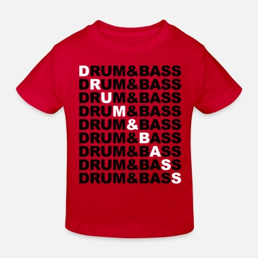 Drum Drum & Bass - Kinderen Bio-T-shirt