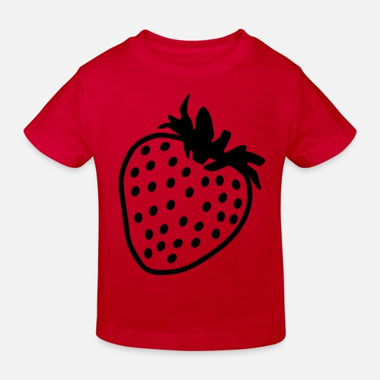 Nature Baby Clothes - Strawberry - Kids' Organic T-Shirt red