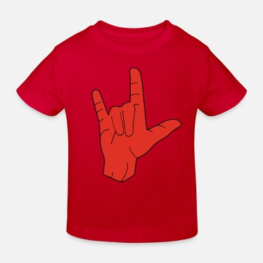 Hand Sign Hand sign sign language love - Kids' Organic T-Shirt