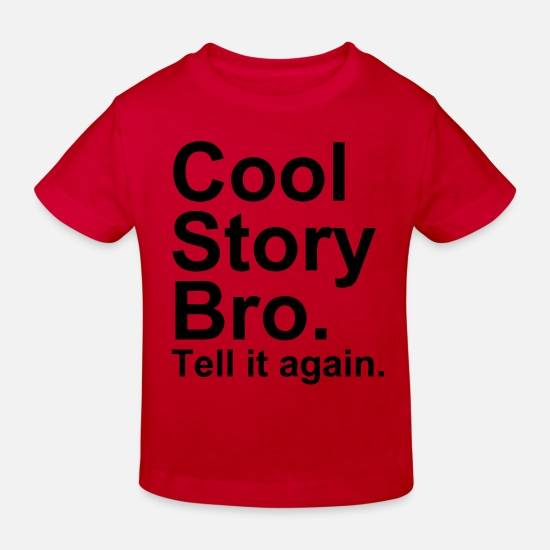 Tell It Again Babyklær - Cool Story Bro - Økologisk T-skjorte barn rød