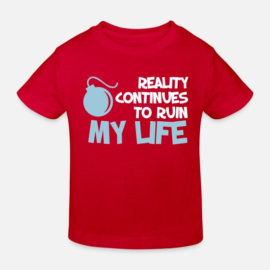 Quotes Baby Clothes - Funny Quotes. Quote. Humor. gift - Kids' Organic T-Shirt red