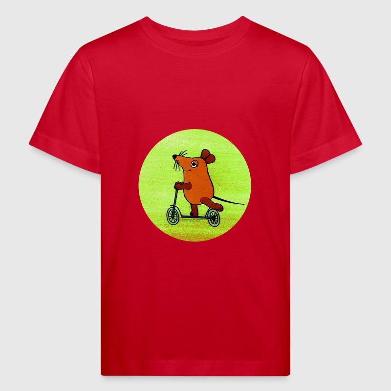 bio kinder t shirt 39 maus mit roller 39 retro von wdrshop spreadshirt. Black Bedroom Furniture Sets. Home Design Ideas