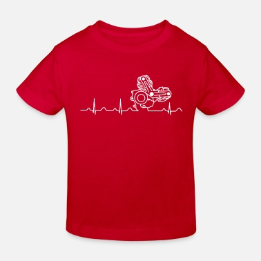 996 Ducati Heartbeat white - Kids' Organic T-Shirt