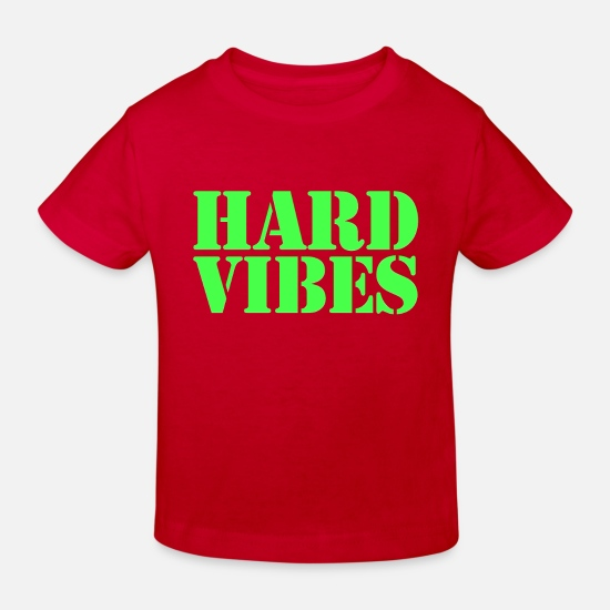 Vibe Baby Clothes - Vibes - Kids' Organic T-Shirt red