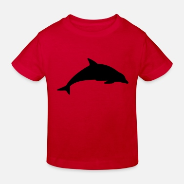 DOLPHIN JUMPING OUT OF THE WATER - Kids' Organic T-Shirt