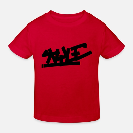 Graffiti Baby Clothes - Style - Kids' Organic T-Shirt red