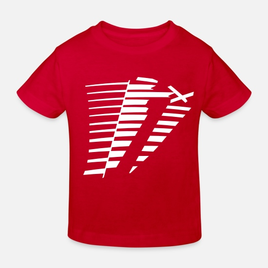 Graphic Baby Clothes - Stripes grunge graphic design - Kids' Organic T-Shirt red