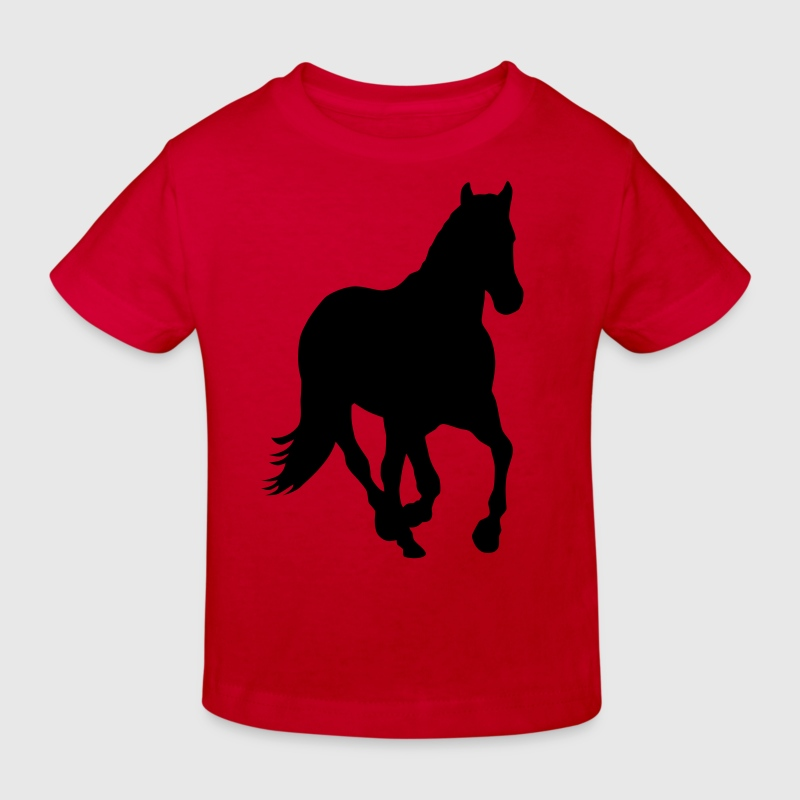 Cheval poney cavalier sauvage - T-shirt bio Enfant