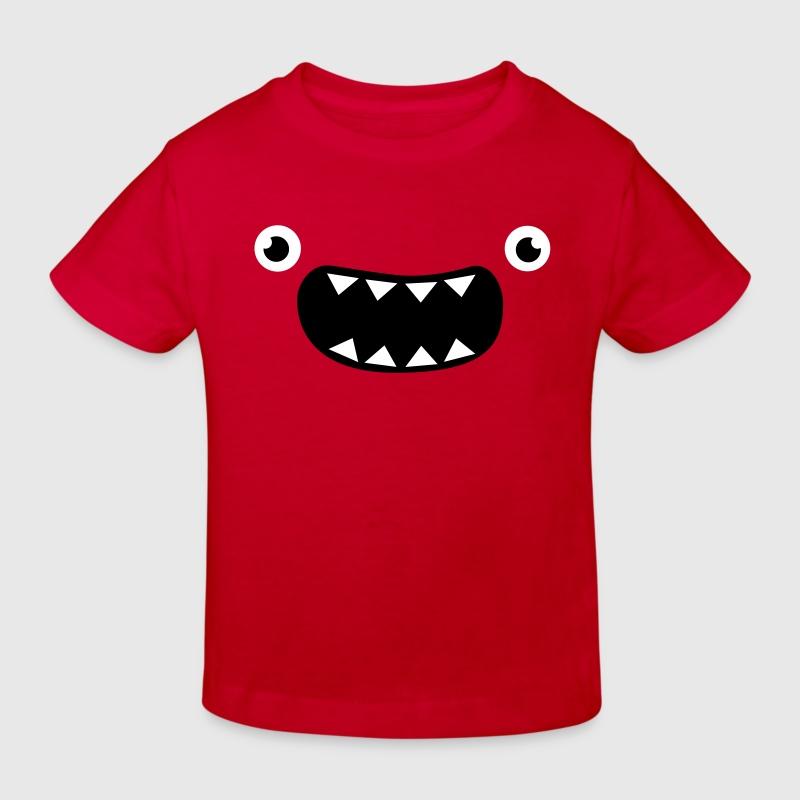 Funny Monster Face - Kids' Organic T-shirt