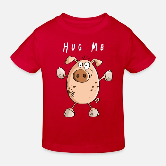 Pig Baby Clothes - Hug Me Pig - Pigs - Piglets - Pigs - Kids' Organic T-Shirt red