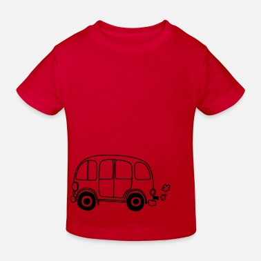 Hippies Niño Auto hippie flower power - Camiseta ecológica niño