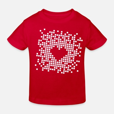 Pixelated Heart Pixel Heart - Kids' Organic T-Shirt