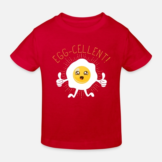 Finger Baby Clothes - Egg (Egg-cellent) - Kids' Organic T-Shirt red