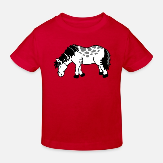 Horse Baby Clothes - Small horse - Kids' Organic T-Shirt red