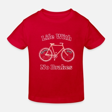 Computer Science Life With No brakes fun hipster geek cycling fan. - Kids' Organic T-Shirt